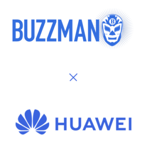 """Logo """"Buzzman X Huawei"""""""